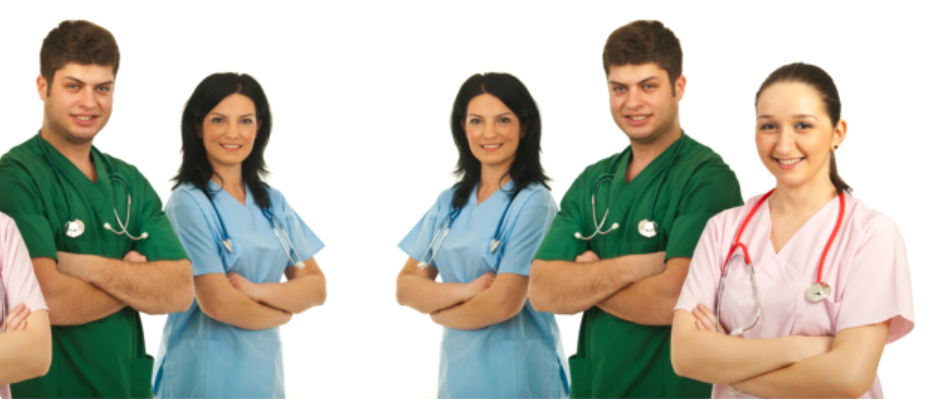 Group of healthcare personnels